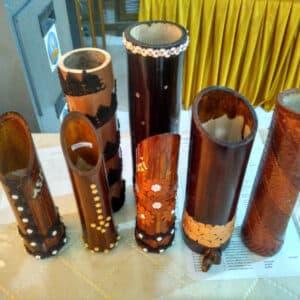 Pot Tanaman Dari Bambu