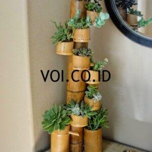 Pot Susun Dari Bambu